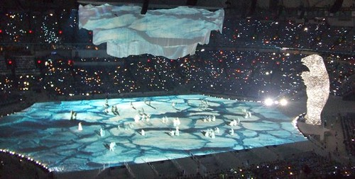2010 Vancouver Winter Olympic Open Ceremonies Endangered Polar Bear