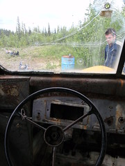 Let's Drive! (DuckShepherd) Tags: alaska hiking backpacking steeringwheel magicbus intothewild stampedetrail chrismccandless scottashmore