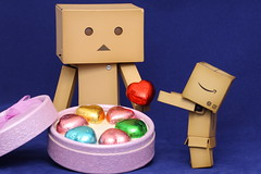 Happy Valentine's Day (darkmoming) Tags: figure danbo canonef50mmf18ii revoltech jfigure danboard