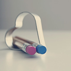 Loving flickr (mickiky) Tags: love pencil flickr heart cuore amore matita sanvalentino svalentine