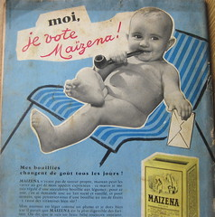 Bonny baby - and tobacco pipe (wonky knee) Tags: magazine reclame advertisement 1950s bebe 1956 francais maizena anneescinquante femmesdaujourdhui pipeatabac