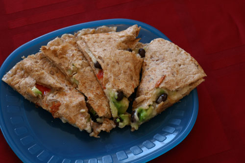 Cooking with Kids: Black Bean, Avocado and Red Pepper Quesadillas