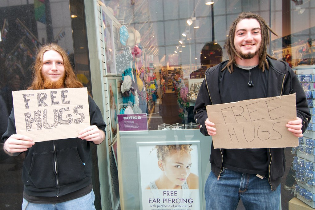 Free Ear Piercing and Free Hugs