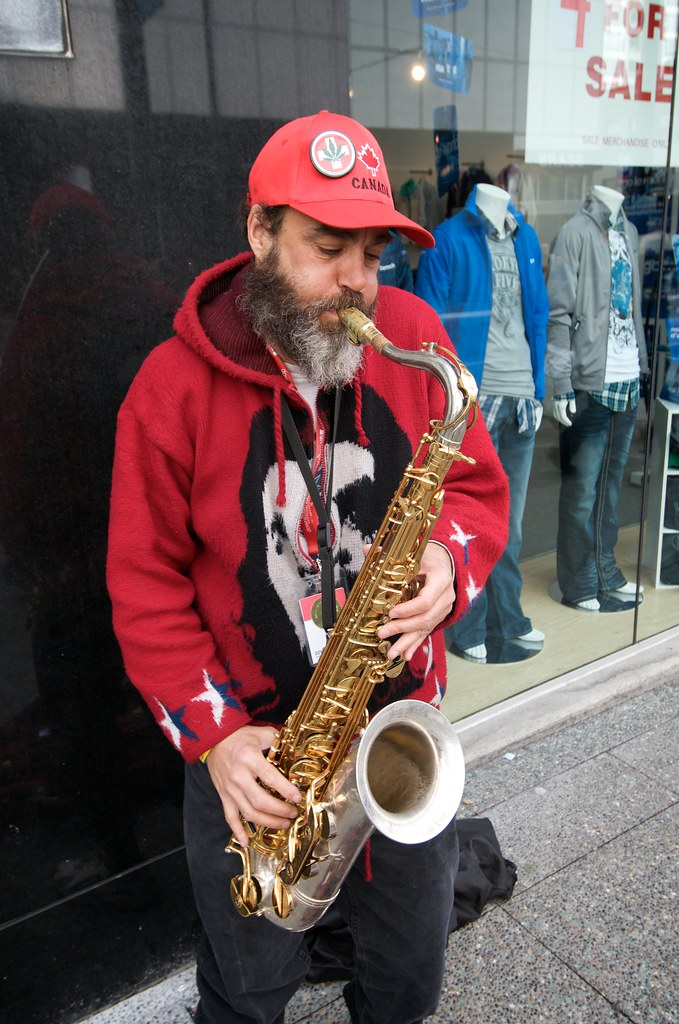 Saxophone Player on the Street