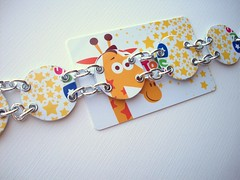 Giraffes in the Stars (Jupita) Tags: recycled jewelry repurposed upcycled jupita trashon plasticgiftcard