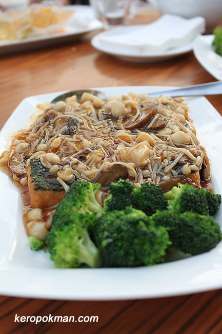 Mushrooms Tofu with Broccoli