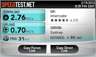 ADSL Broadband speed test