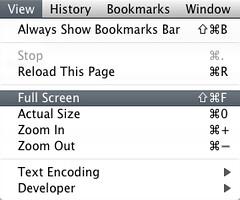 Mac Chromium - Full Screen