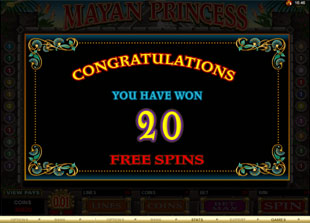free Mayan Princess gamble bonus game