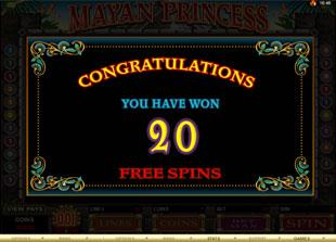 free Mayan Princess gamble bonus game