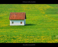 A House with a Garden (farbspiel) Tags: house green field garden photography nikon small nikkor simple idyllic 18200 isolated lonesome d90 nikon18200vr nikond90 topazadjust klausherrmann