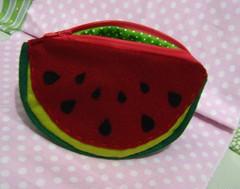 Carteirinha (carambola arte em feltro) Tags: melancia carteira feltro bolsa bolsinha portamoedas portaniquel