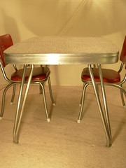 Sold Cromecraft Style Table Red White Grey 05