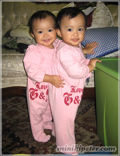 ISABEL and JEZELLE. MiniHipster.com: children's childrens clothing trends, kids street fashion, kidswear lookbook