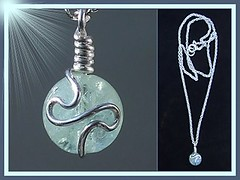 "The "" March Goddess "" Handcrafted Aquamarine & Silver Necklet [Sold]"