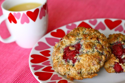 Oatmeal Raspberry Scones