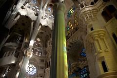 Interior Sagrada Familia (edwindejongh) Tags: barcelona church spain interior catalonia architect gaudi inside sagradafamilia kerk glasinlood catalonie