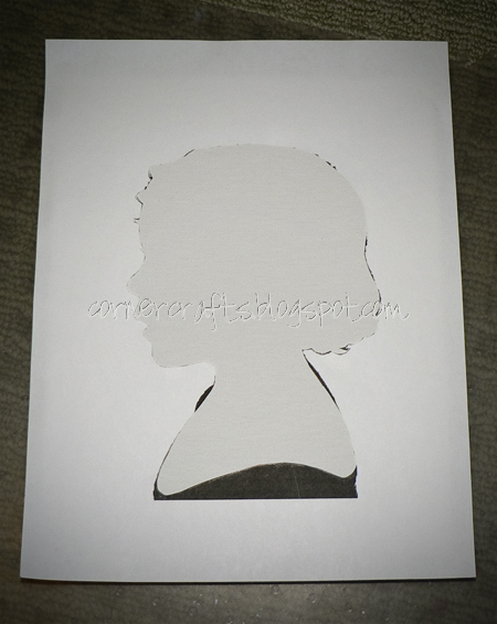 silhouette canvas cut out stuck stencil