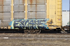 Escape from LA. (A & P Bench) Tags: freights freight train graffiti graff painting spraypaint canadian benching ap bench hardcore benchers railfan rail fan freighttraingraffiti graf freighttrain railroad trains art rolling stock benched canada steel painted railway piece railcar rollingstock traingraffiti freightgraffiti
