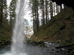 Behiind Ponytail Falls Photo