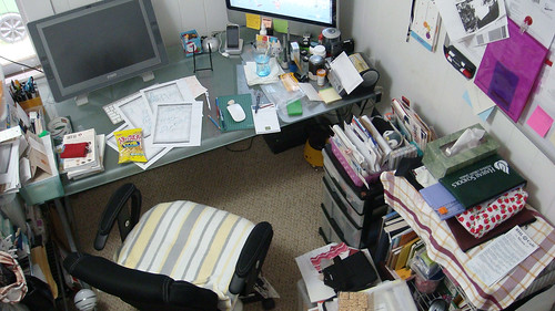 Overhead view of my desk - 2010