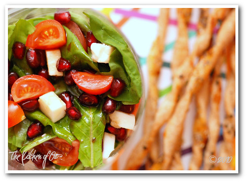 Arugula Salad with Pomegranate Sauce