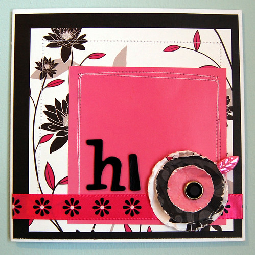 Hi Card - Black, White & Pink