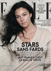 """Elle, avril 2009, """"Stars sans fards, sans maquillage, sans  retouches"""" (Monica Belluci)"""
