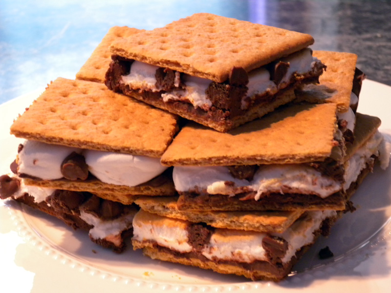 S'mores from the oven!