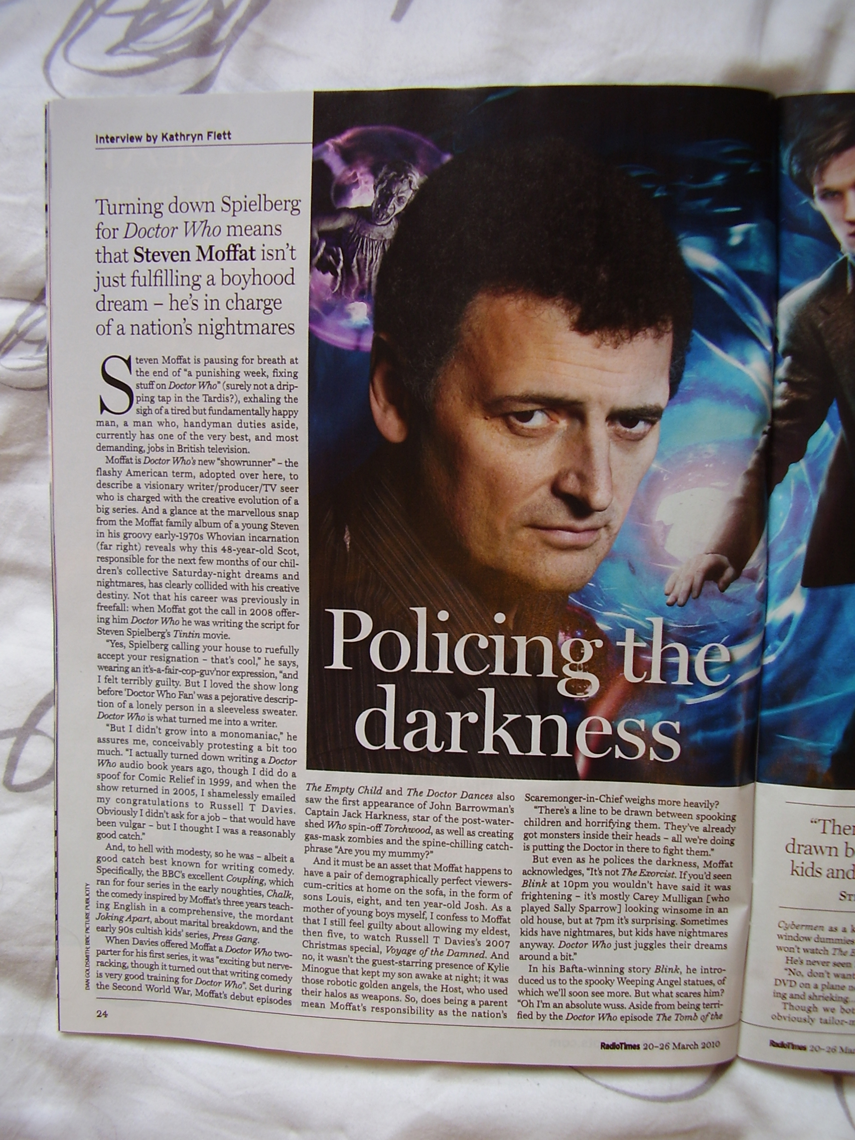 Radio Times - Moffat interview [Page 1]