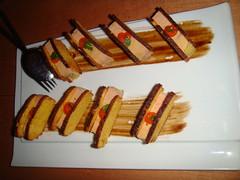 Sandwiches de terrina de foie gras, sobaos pasiegos y confitura de zanahoria
