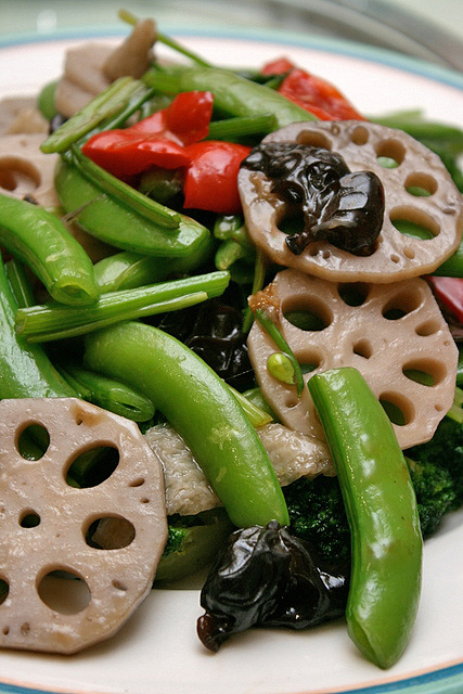 Stir-fried Vegetables with Lotus Root and Bamboo Pith