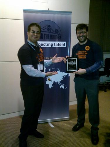 I vincitori: Franco Tecchia e Francesco Inguscio di VRMedia
