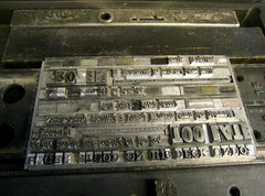 typesetting for the project