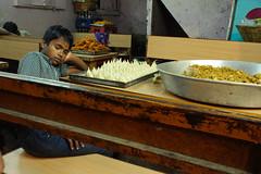 (kuuan) Tags: boy restaurant rest sleep work haridwar india kumbhmela takumar manualfocus mf screwmount supertakumarf3524mm f35 24mm pentax pentaxkx kx supertakumar f3524mm