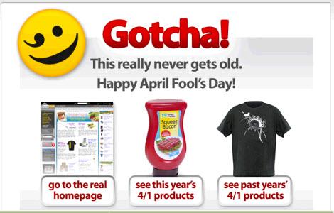 ThinkGeek April Fool's Joke