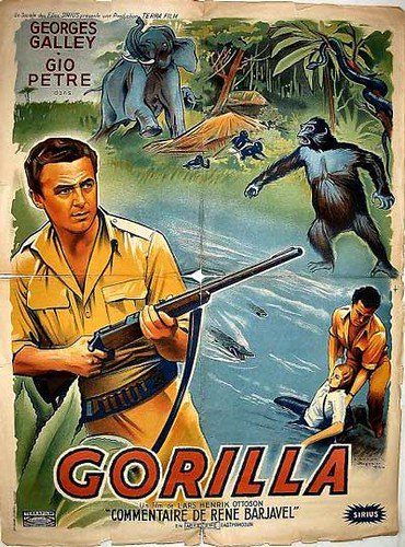 GORILLA (1956) Swedish one sheet