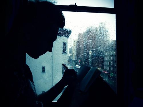 Me in rainy New York