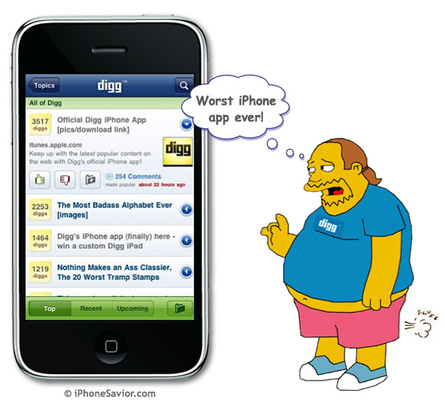 Digg App for iPhone