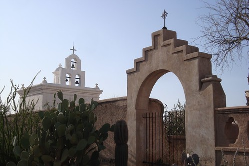 At San Xavier Mission