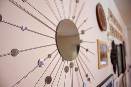 Starburst Mirror on Wall
