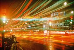 Trafalgar Square traffic 1 (Anatoleya) Tags: london film 35mm out holga lomo lomography crossprocessed cross slide crossprocessing processing 135 date elitechrome expired processed 135bc anatoleya