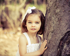 M. (Rebecca812) Tags: portrait sunlight white tree girl beautiful children outside gold eyes backyard child bokeh daughter naturallight m bark hazel whitedress whiteribbon platinumheartaward artofimages canon5dmarkii bestportraitsaoi elitechildimages elitegalleryaoi
