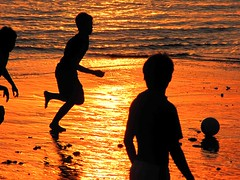 Football world cup (Mangiwau) Tags: world africa sunset brazil england bali usa reflection beach cup argentina silhouette japan brasil germany emblem logo uruguay design town football republic fifa soccer south wayne diego korea greece final cape afrika lionel kaka bola futbol fifi siluetas maradona sepp rooney 2010 durban messi dunia blatter piala selatan