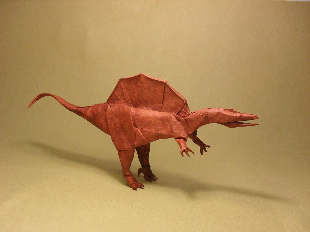 Spinosaurus Atilla Yurtkul Tags Paper Origami Dinosaur Handmade Kato Shuki Dargelirli