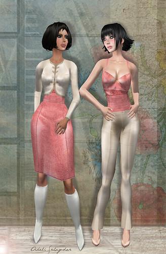 Sassy Sandra & Milly Pink