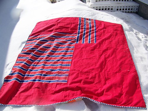 Vintage Quilt back