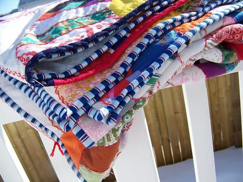 Vintage Quilt folded