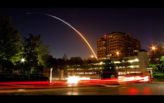 STS-131 Space Shuttle Discovery Night Launch (Scott Smith (SRisonS)) Tags: morning building night early orlando space center nasa explore shuttle mission cape launch discovery frontpage kennedy canaveral maitland thearbors sts131
