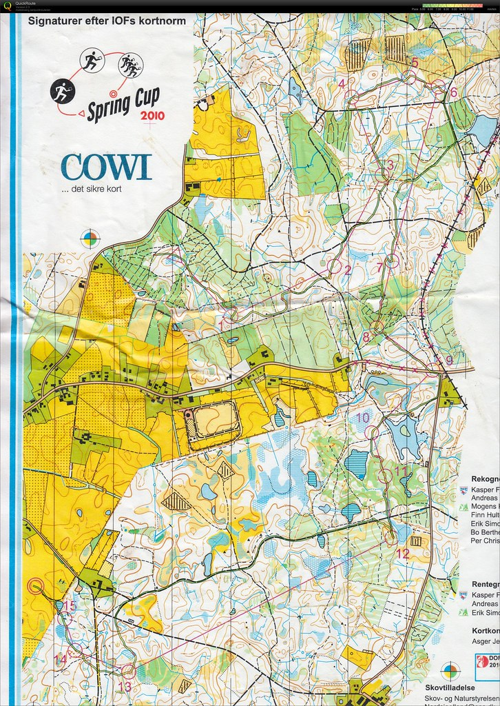 Spring Cup Classic March 27th 2010 Orienteering Map From
